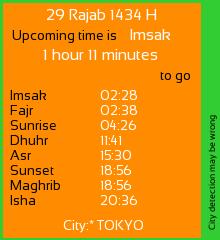 kalender hijriyah dan jadwal waktu sholat