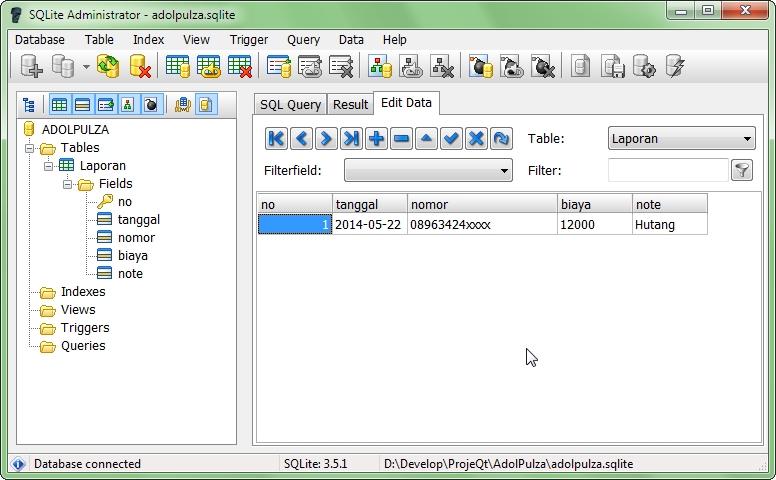 SQLite Administrator